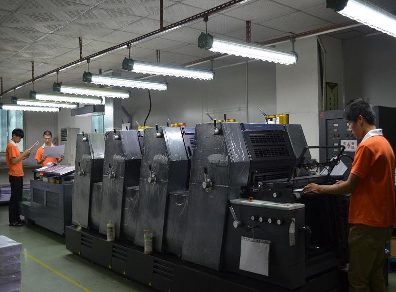 海德堡四色胶印机生产现场